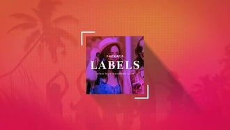 Social Labels Pack: After Effects Templates