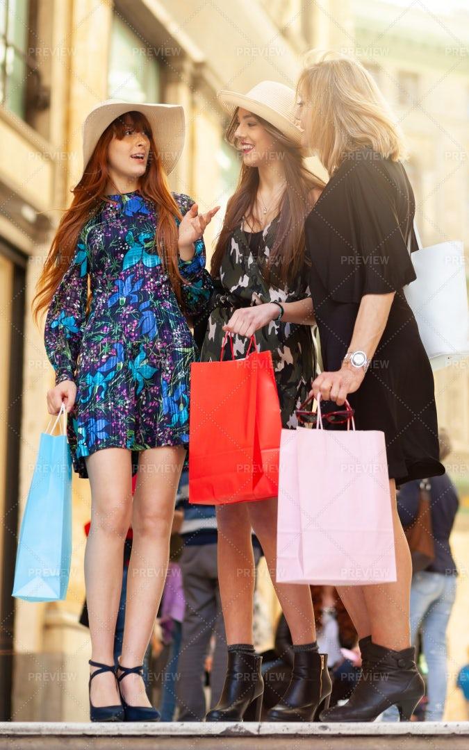 A Women's Shopping Trip: Stock Photos