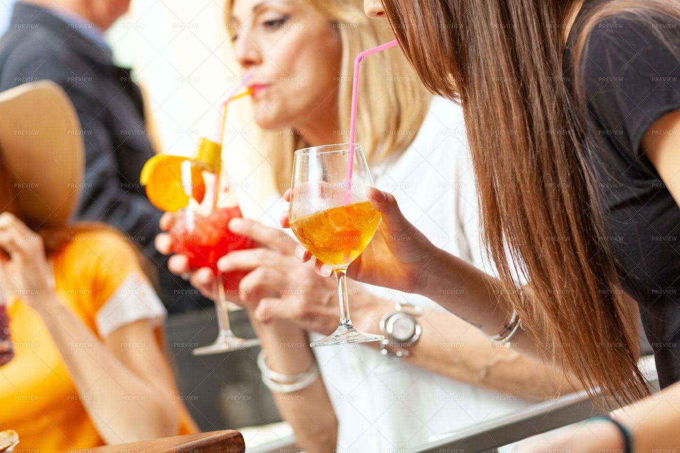 Friends Having Drinks: Stock Photos