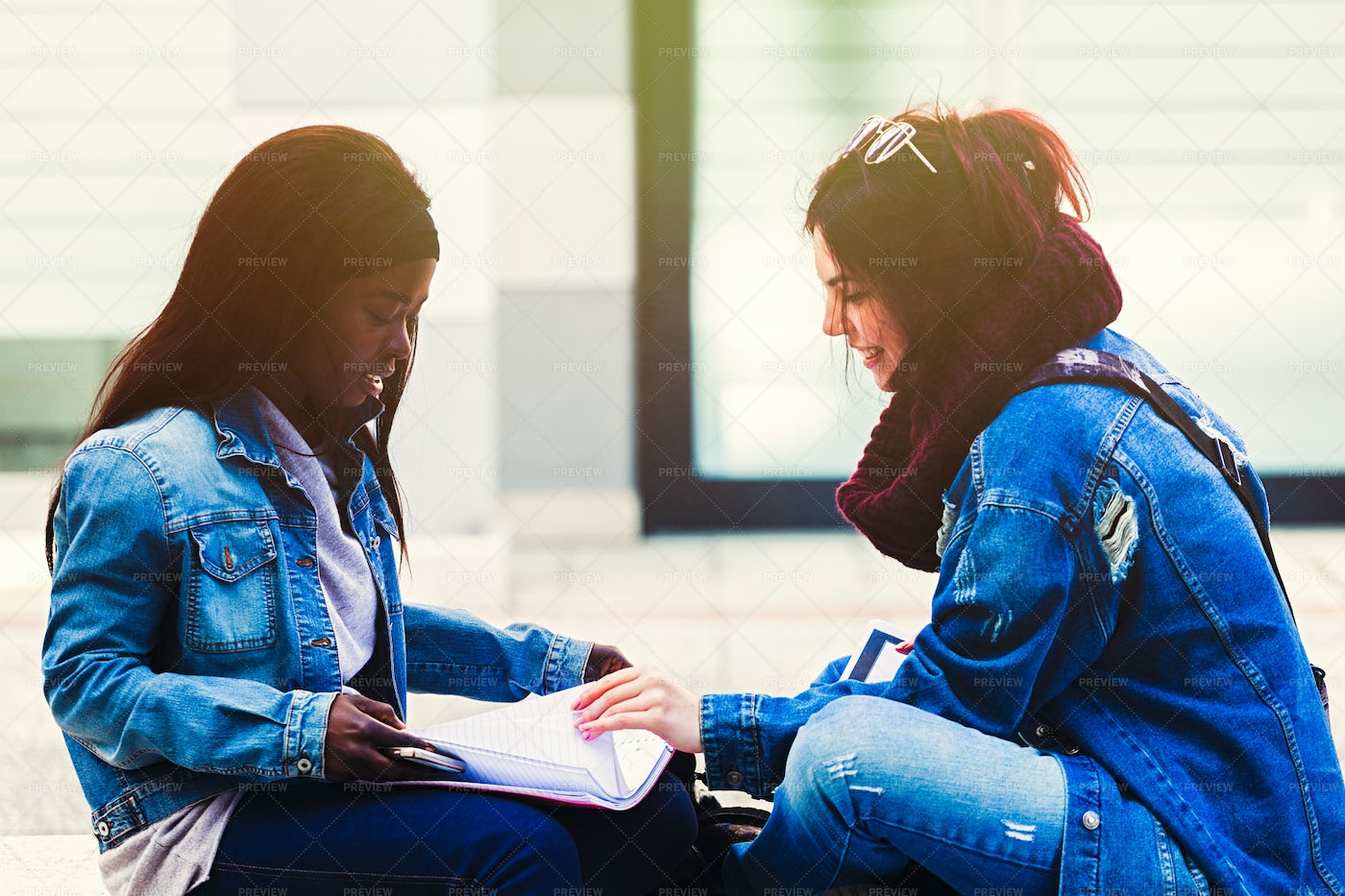 Friends Studying Together: Stock Photos