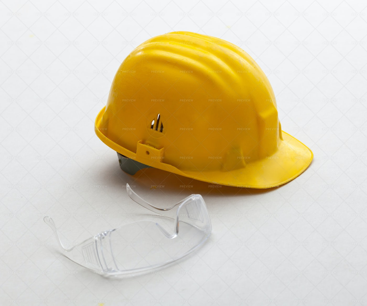 Helmet And Safety Glasses: Stock Photos