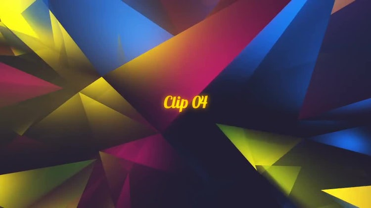 Colorful Glass Facets: Stock Motion Graphics