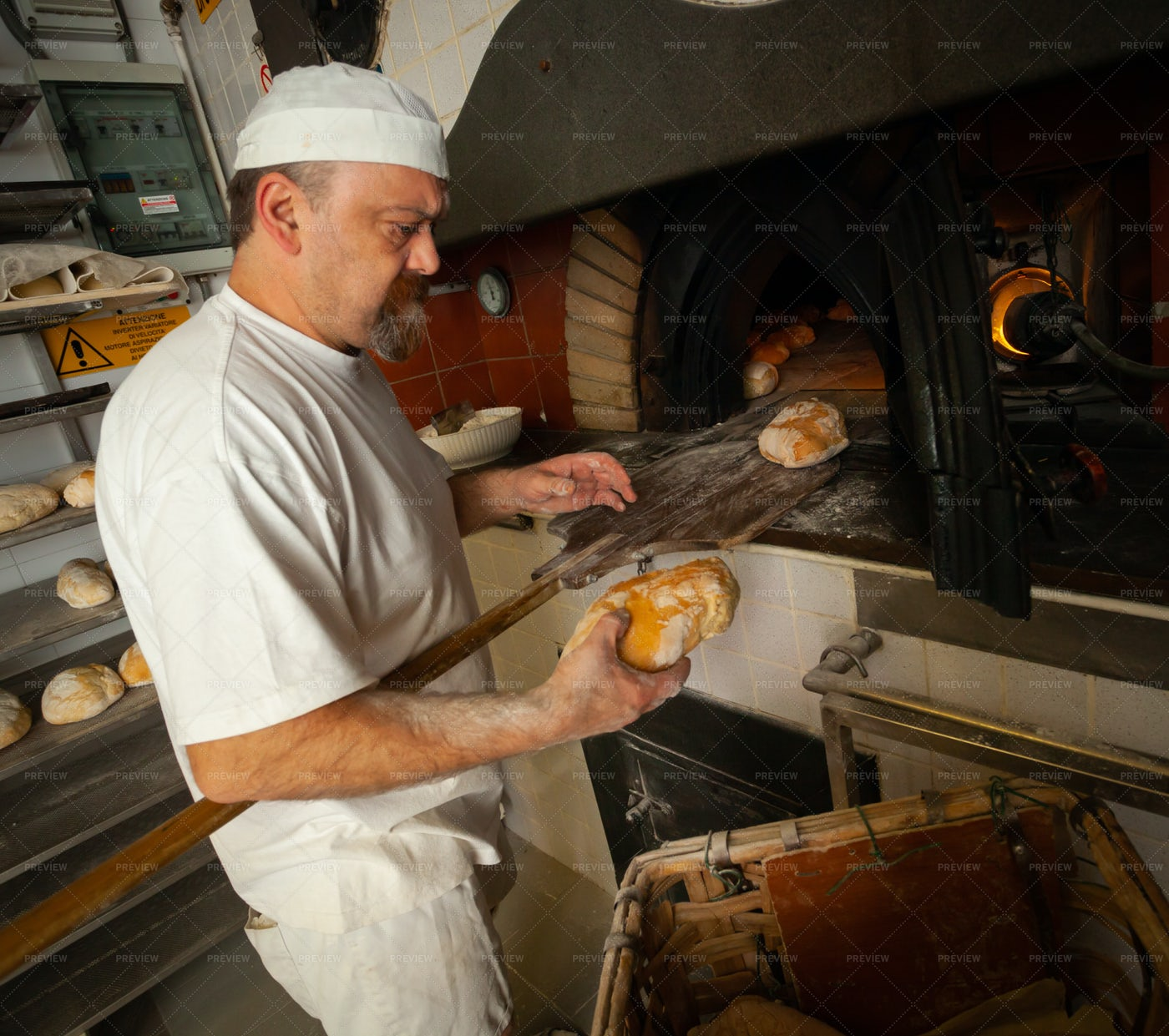 Baking Fresh Bread: Stock Photos