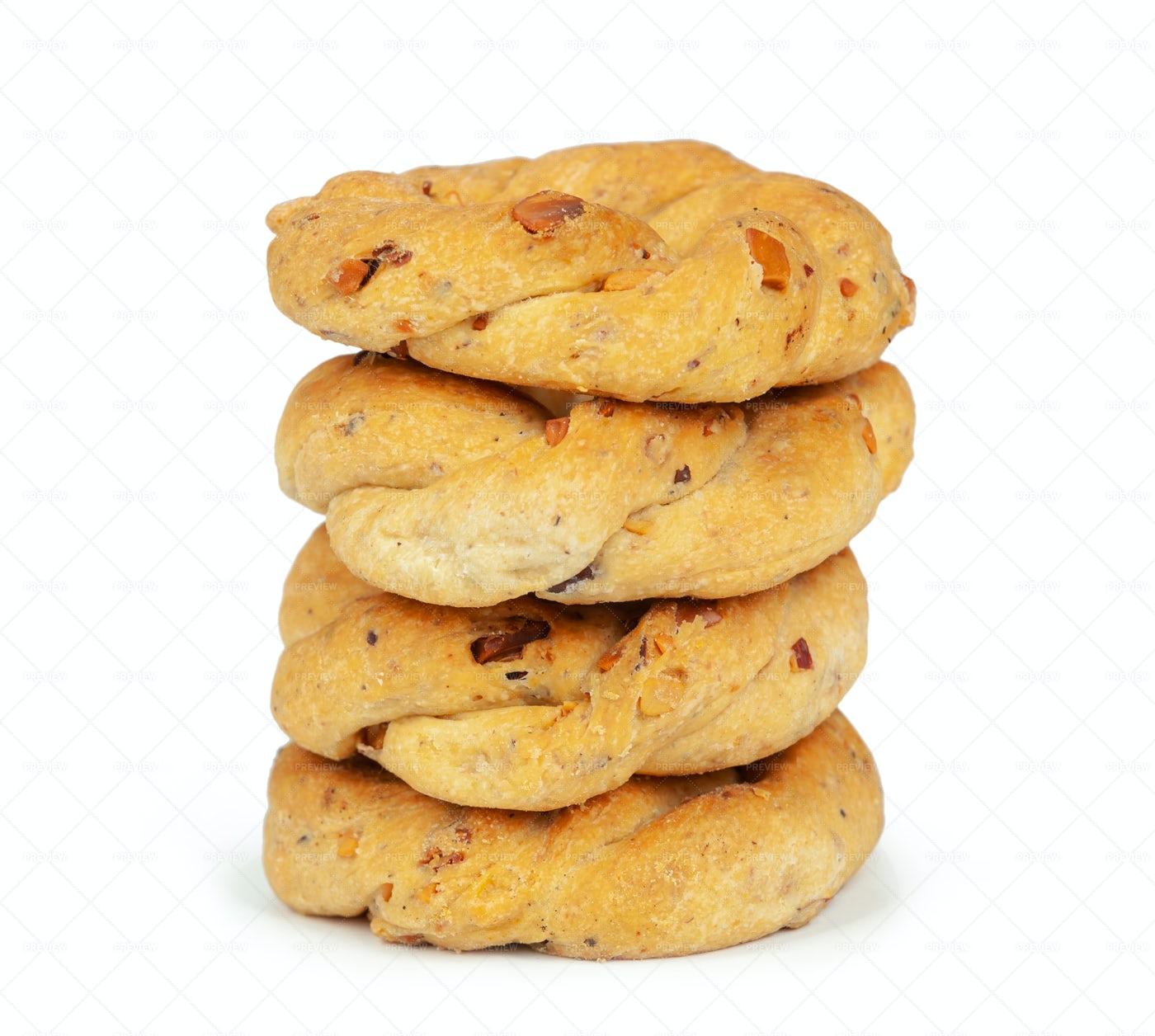 Neapolitan Taralli Cookies: Stock Photos