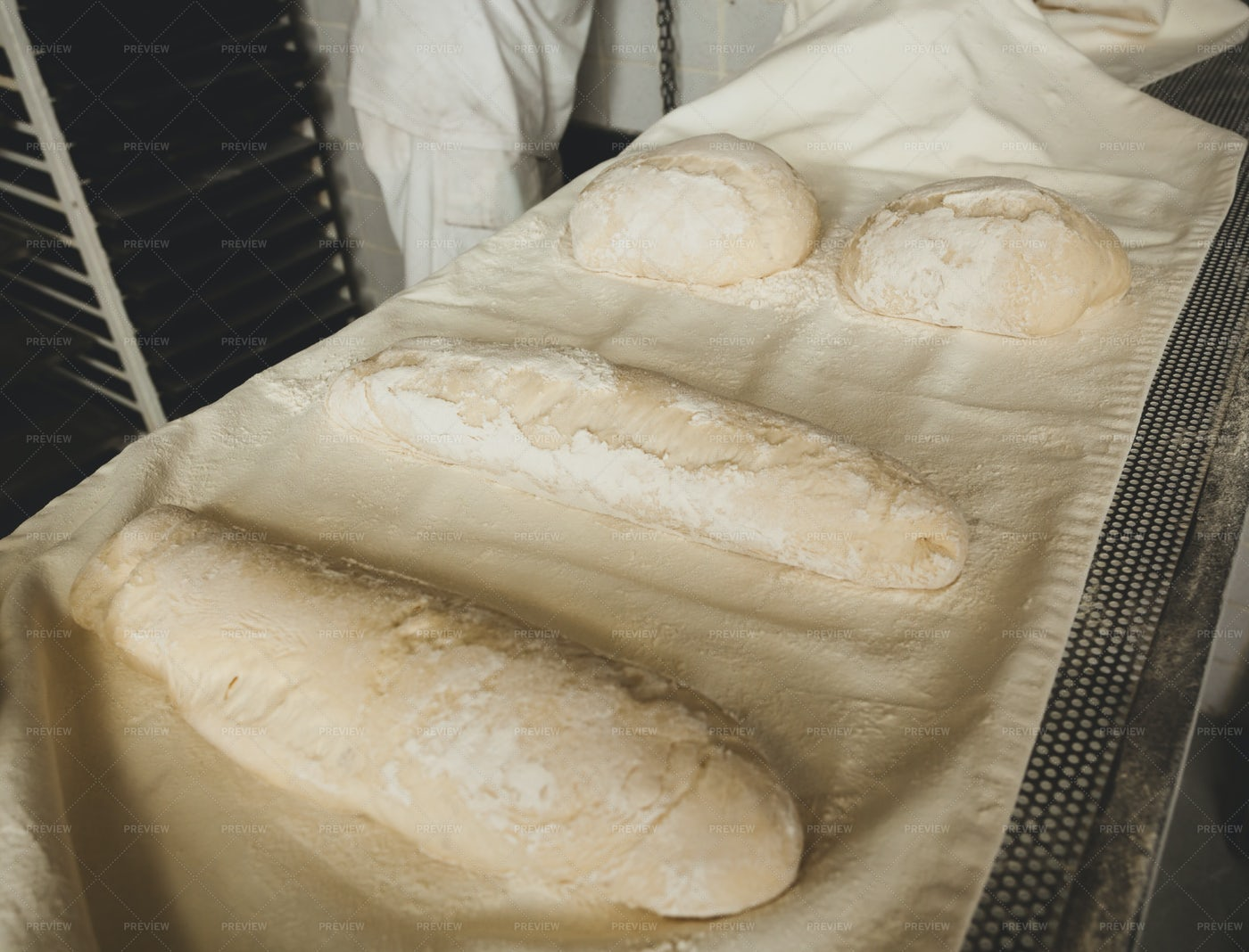 Production Of Baked Bread: Stock Photos