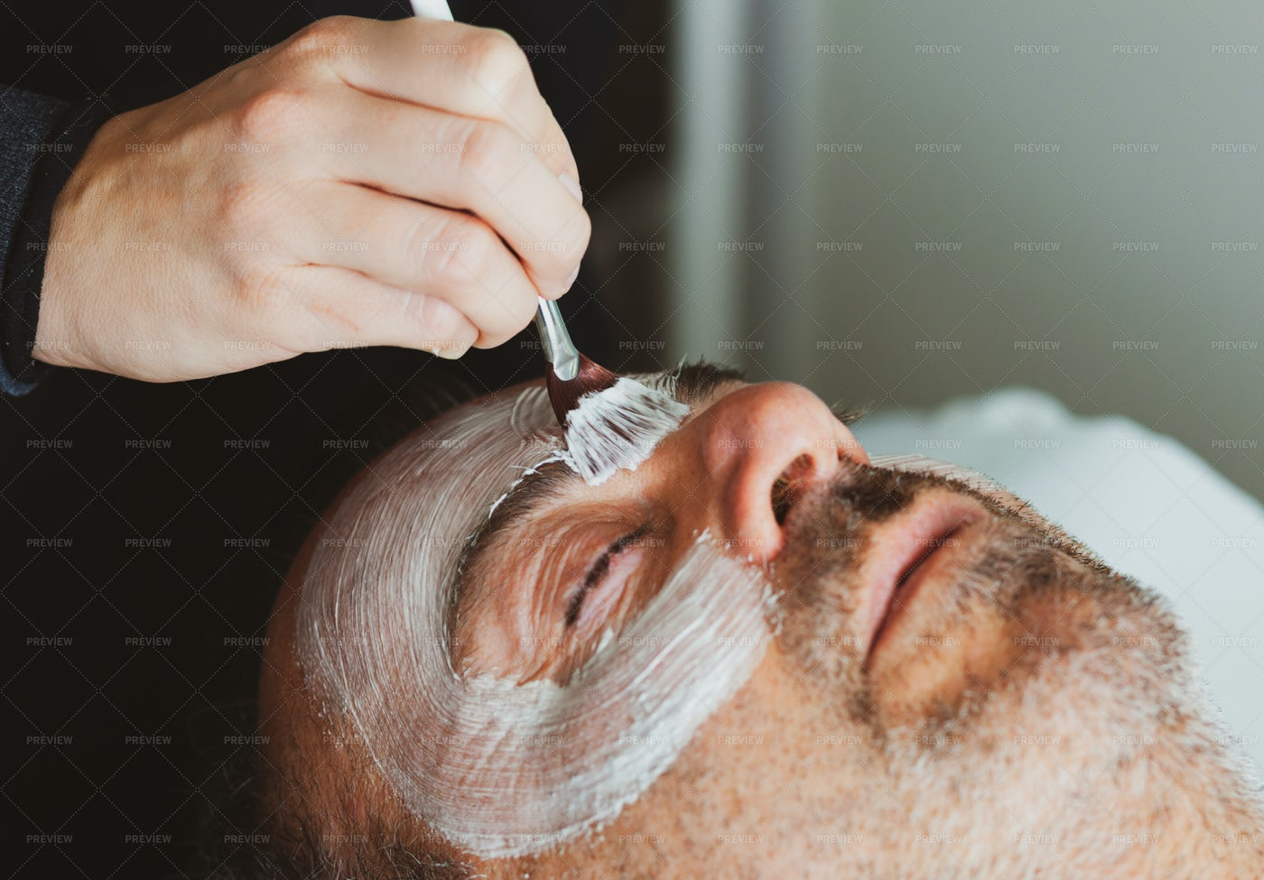 Middle-aged Man In A Spa: Stock Photos