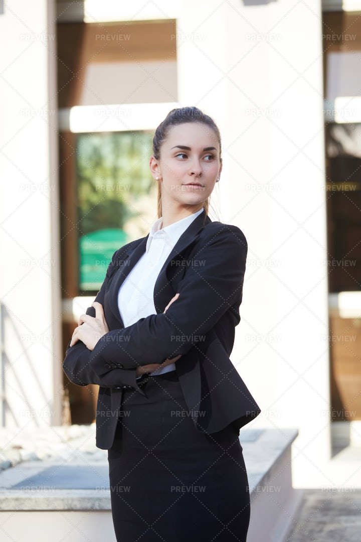 Businesswoman Taking It Seriously: Stock Photos