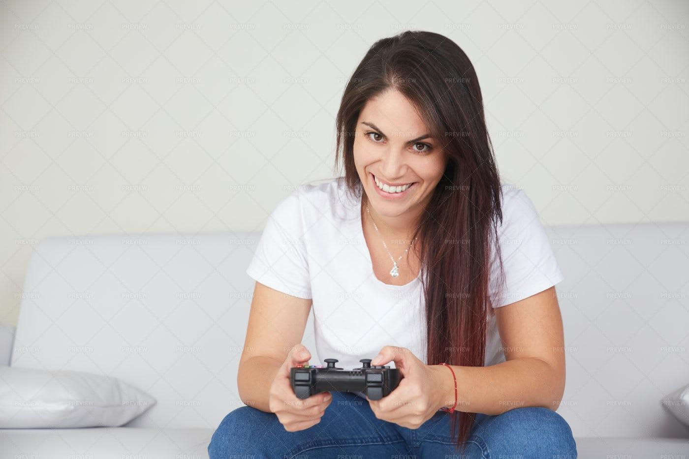 Female Gamer: Stock Photos