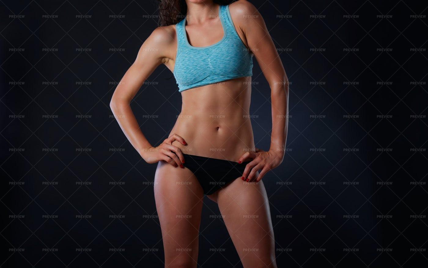 Female Athlete Body Shot: Stock Photos