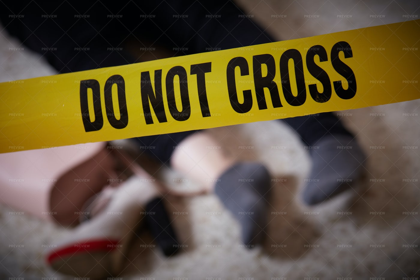 Scene Of The Murder: Stock Photos