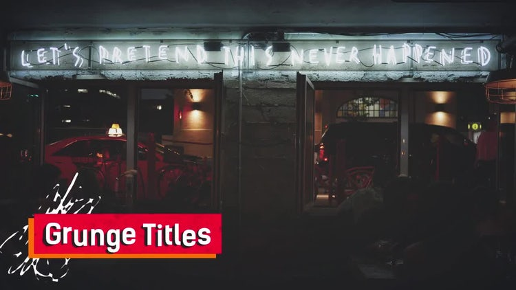 Color Grunge Titles: After Effects Templates