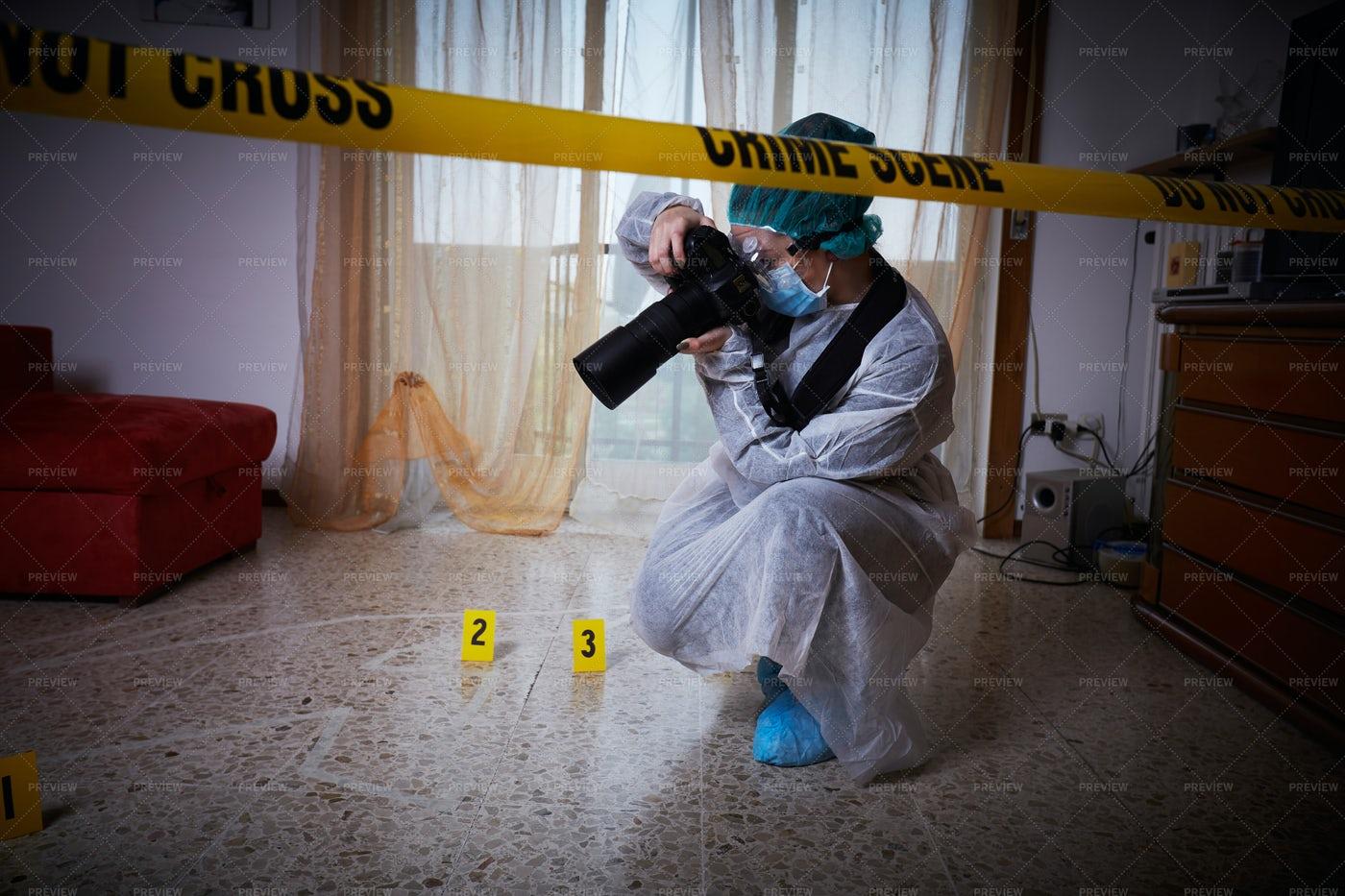 Crime Scene Photography: Stock Photos