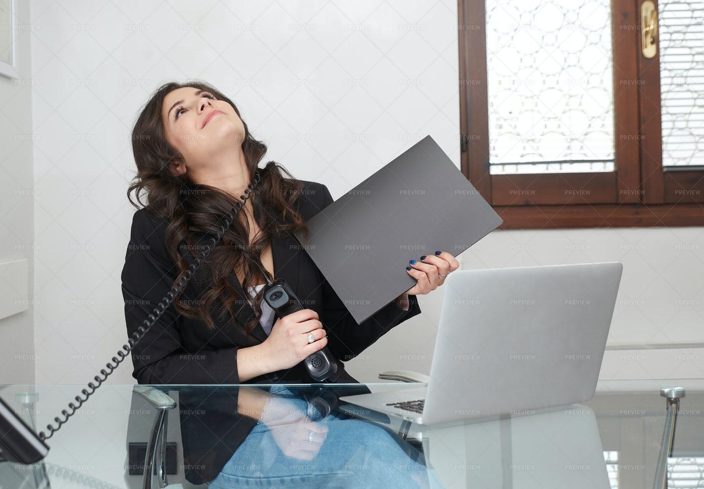 A Stressful Call: Stock Photos