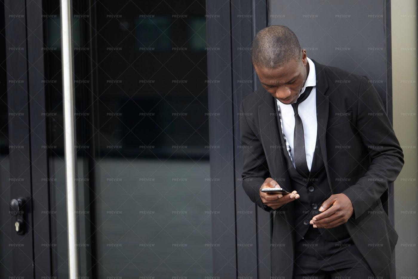 Man Checking His Phone: Stock Photos