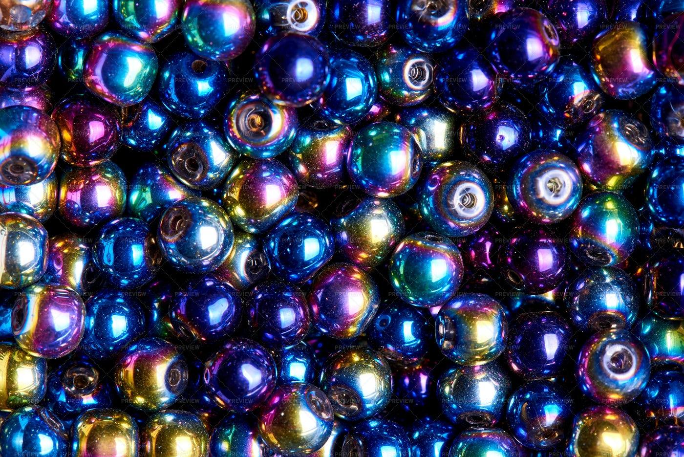 Multicolored Iridescent Beads: Stock Photos
