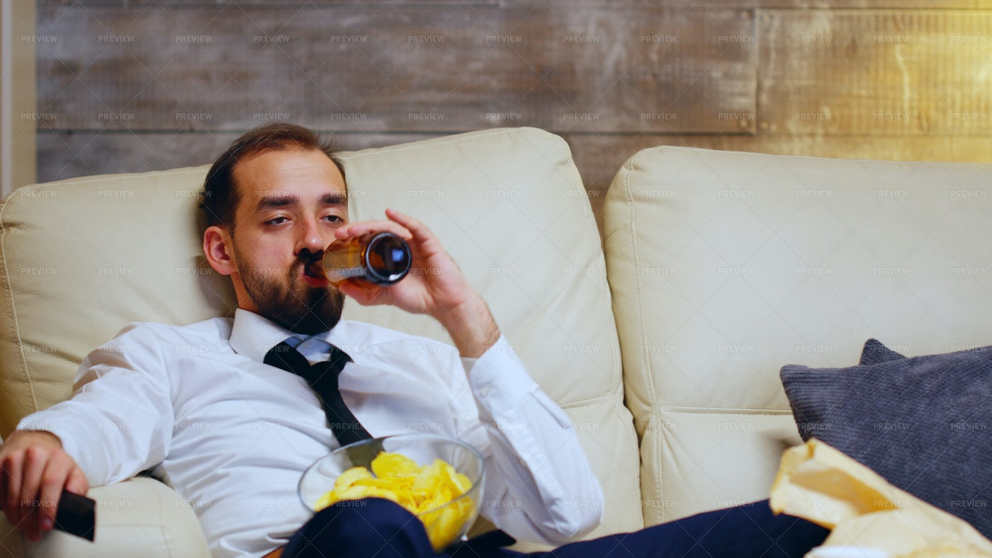 Chilling After Work: Stock Photos