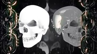 Glowing Metal Skulls: Motion Graphics