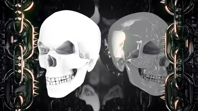 Glowing Metal Skulls: Motion Graphics