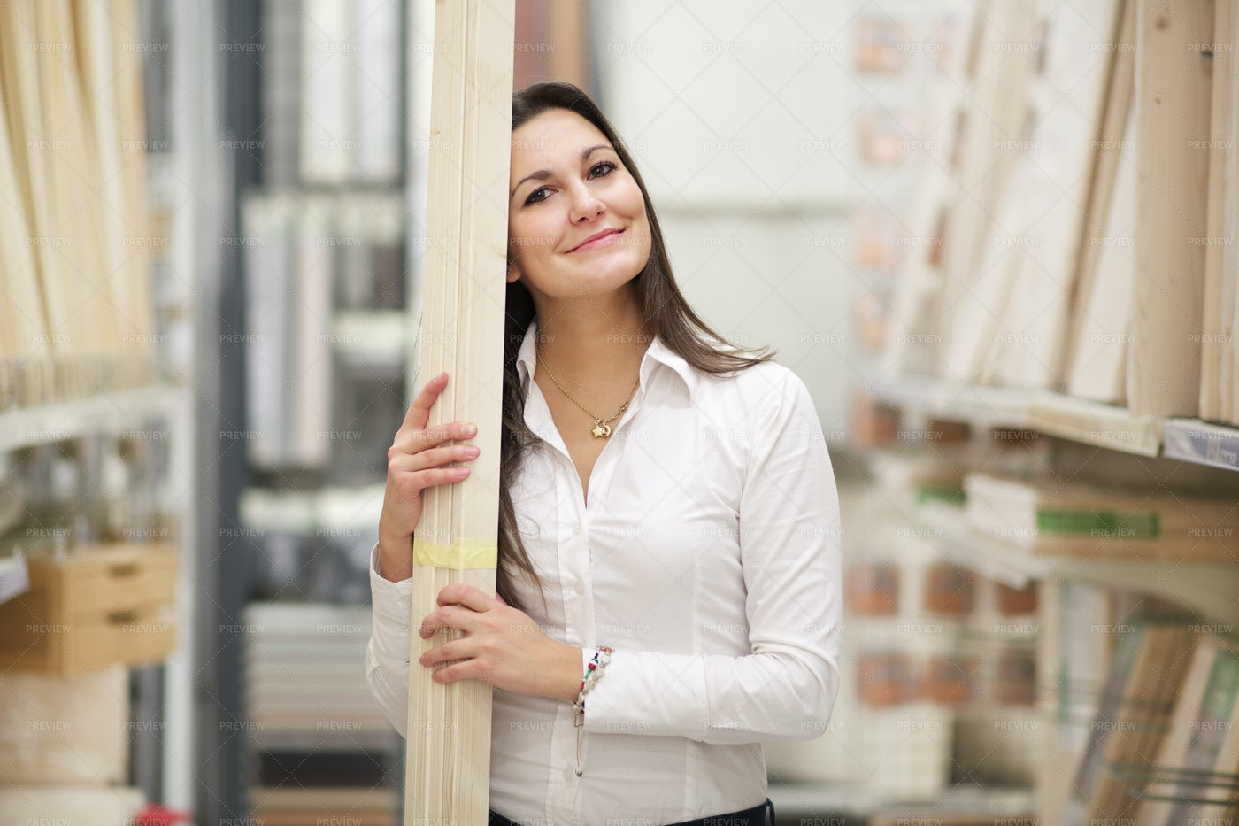 Woman Goes Hardware Store: Stock Photos