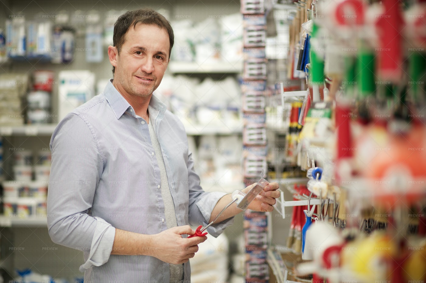 Man In A Hardware Store: Stock Photos