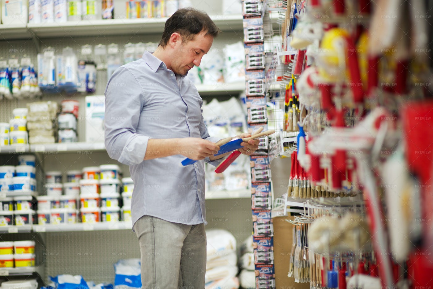 Buyer At Hardware Store: Stock Photos