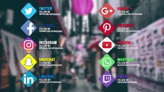 Social Links: Motion Graphics Templates