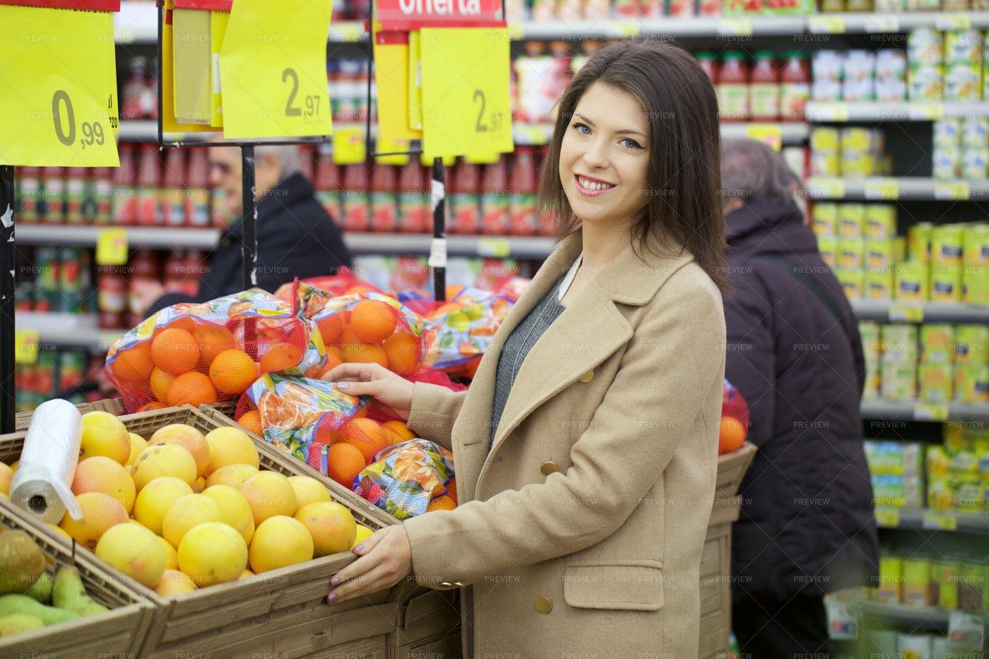 Shopping For Fruit: Stock Photos