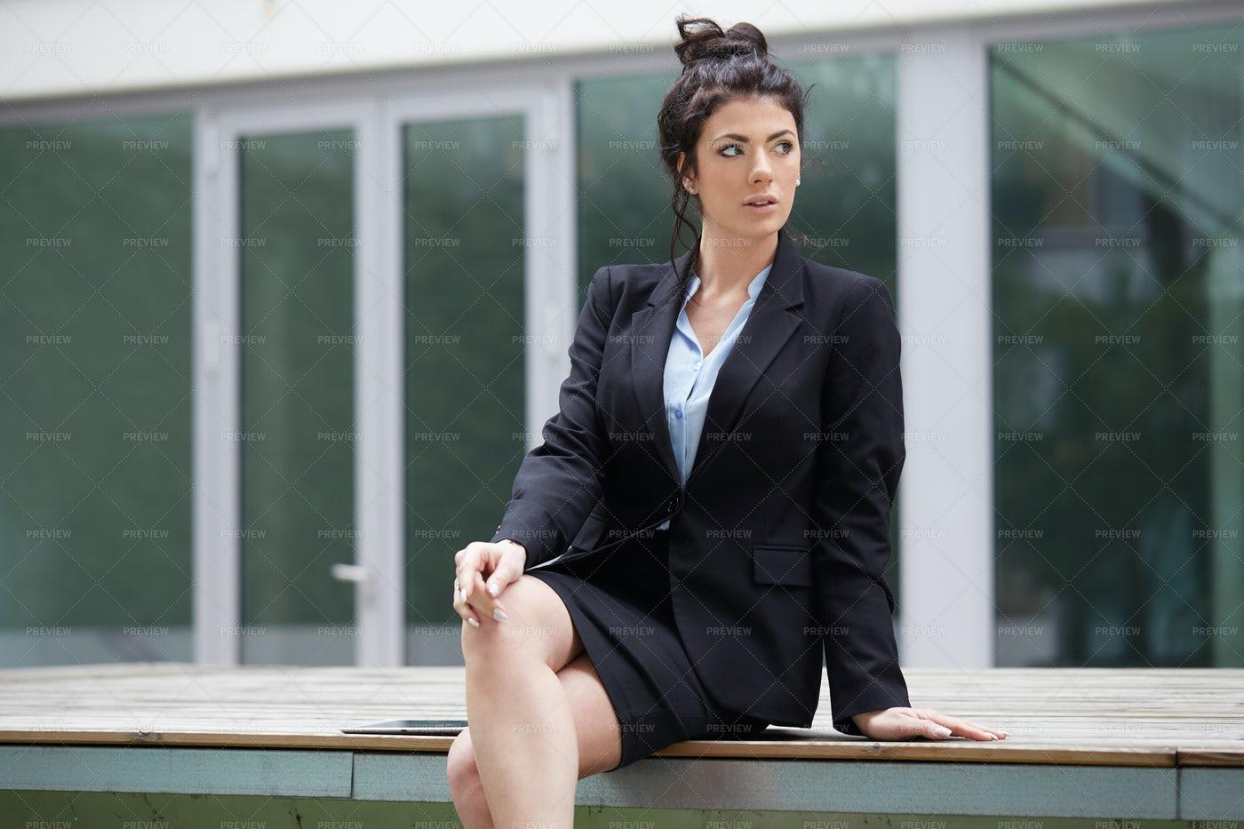 Businesswomen In The Outdoors: Stock Photos