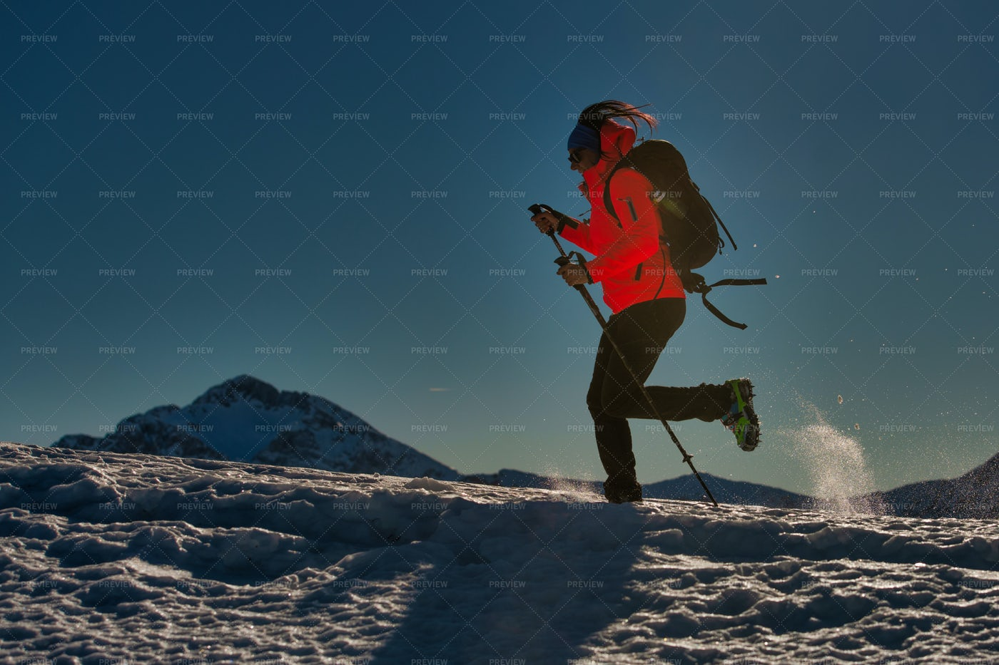 Climbing A Mountain: Stock Photos