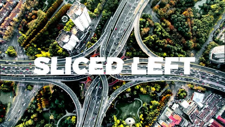 Sliced Transitions: After Effects Templates