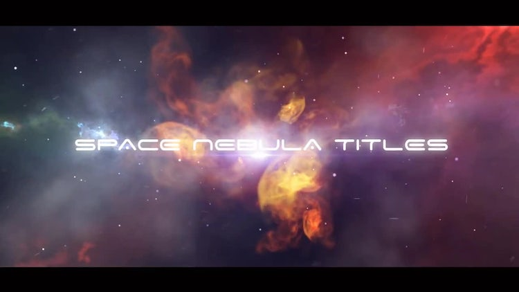 Space Nebula Titles: After Effects Templates