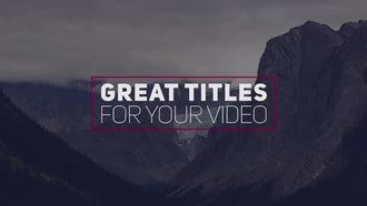 14 Creative Modern Titles: Premiere Pro Templates