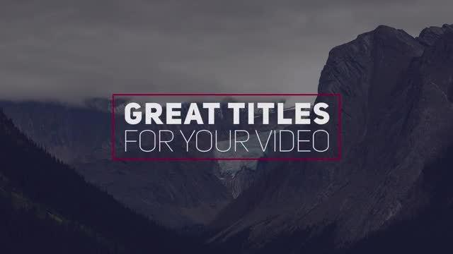 14 Creative Modern Titles: Premiere Pro Templates
