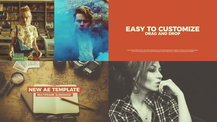 Multiframe Slideshow: After Effects Templates