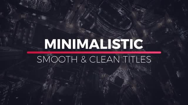Minimalistic Titles: After Effects Templates