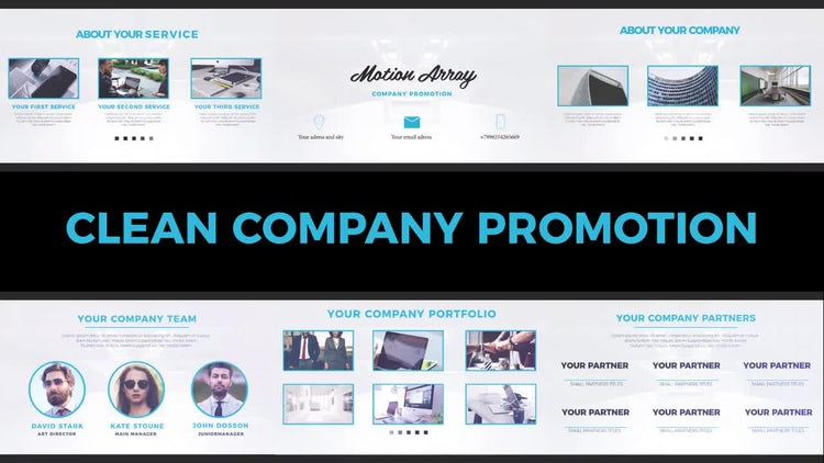 Clean Company Promotion: Premiere Pro Templates