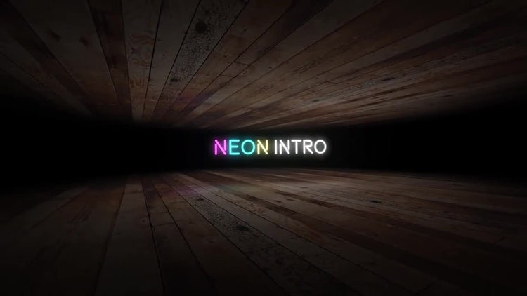 Neon Text Intro: After Effects Templates
