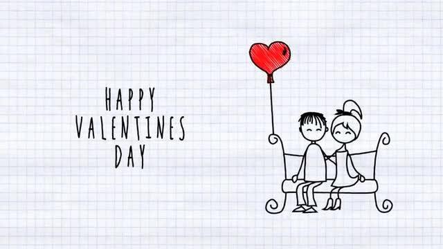Love Cartoon Card: After Effects Templates
