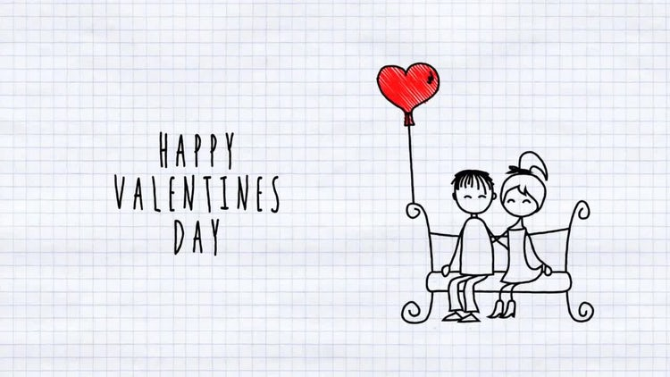 Love Cartoon Card: After Effects Templates