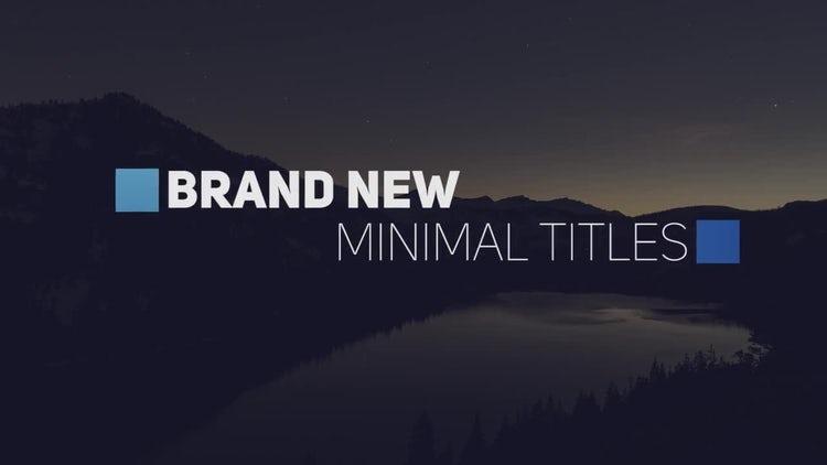 Modern Minimal Titles: Premiere Pro Templates