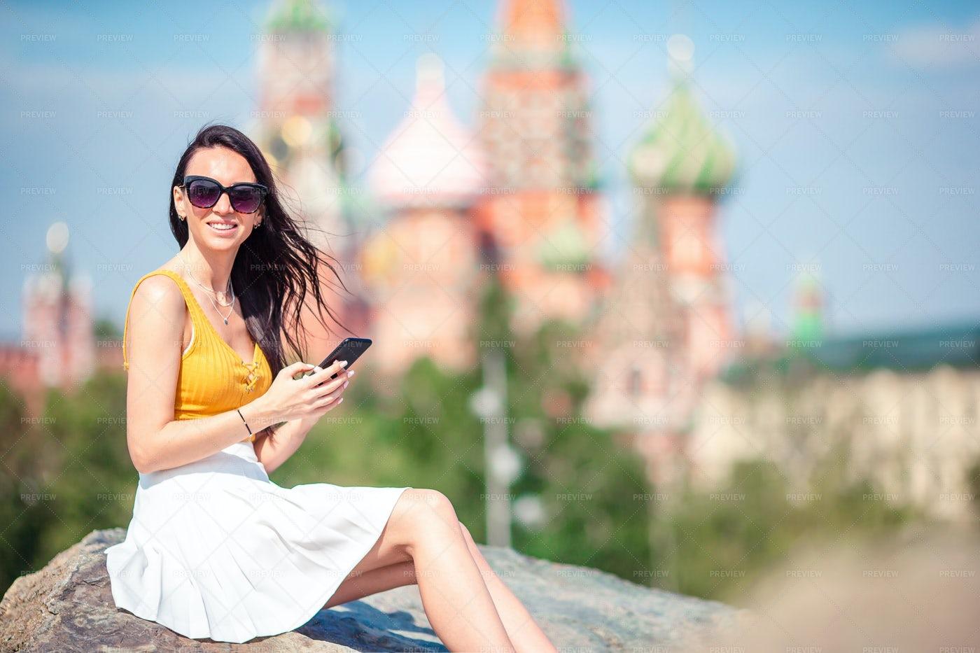 Tourist On A Big City: Stock Photos