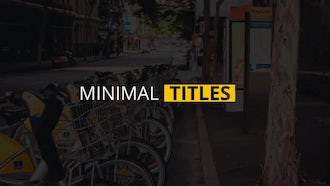 12 Minimal Titles : After Effects Templates