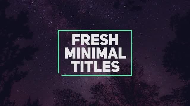 Fresh Minimal Titles: Premiere Pro Templates
