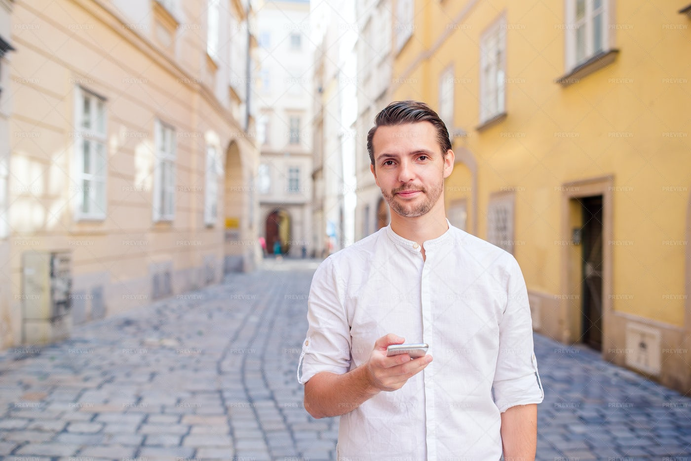 Young Man With Smartphone: Stock Photos