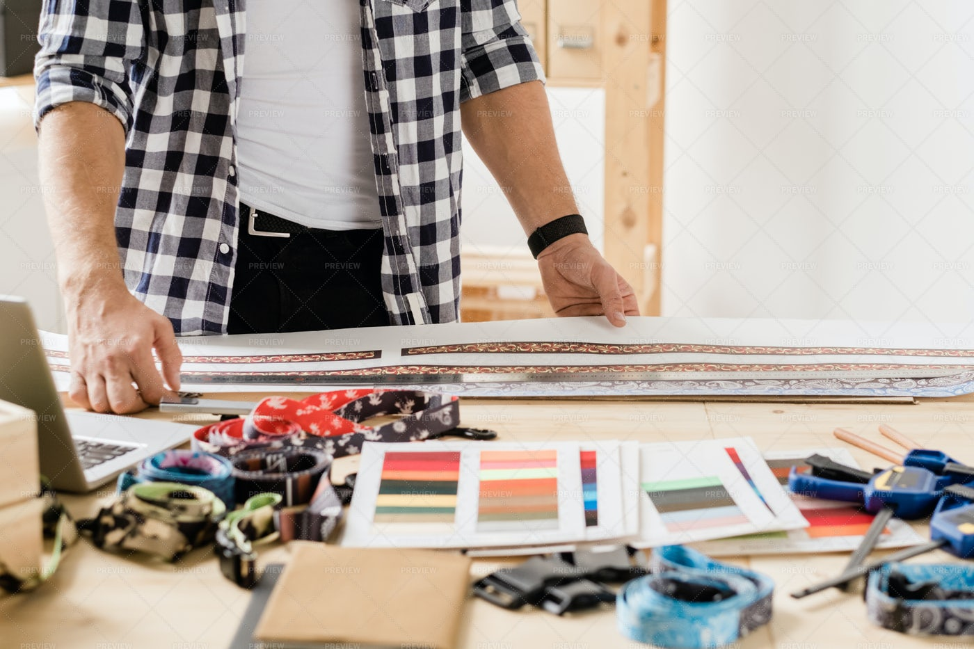 Hands Of Contemporary Craftsman...: Stock Photos