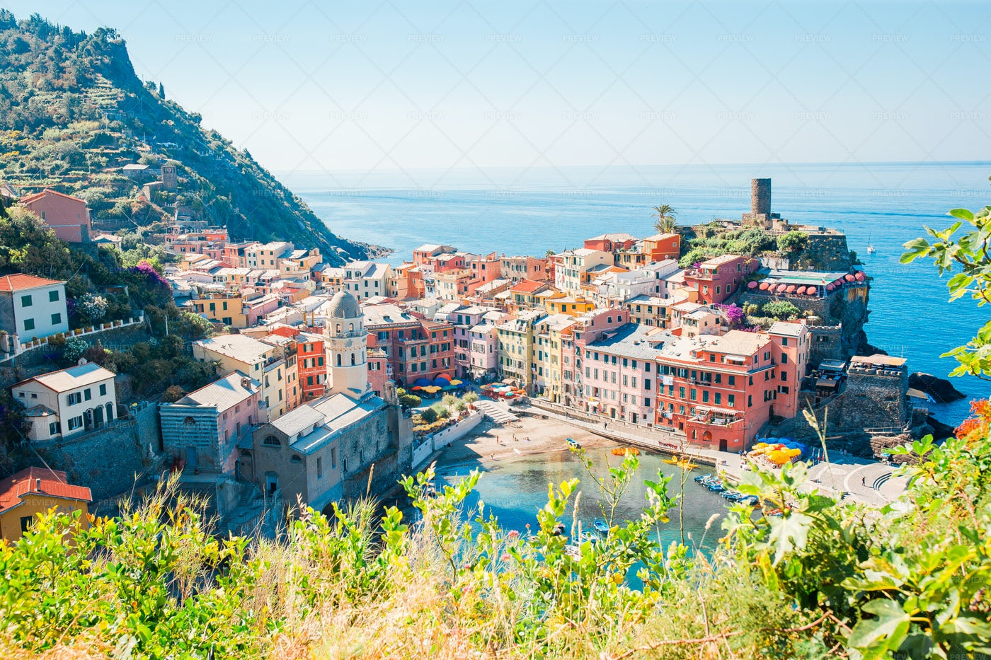 View Of The Vernazza: Stock Photos