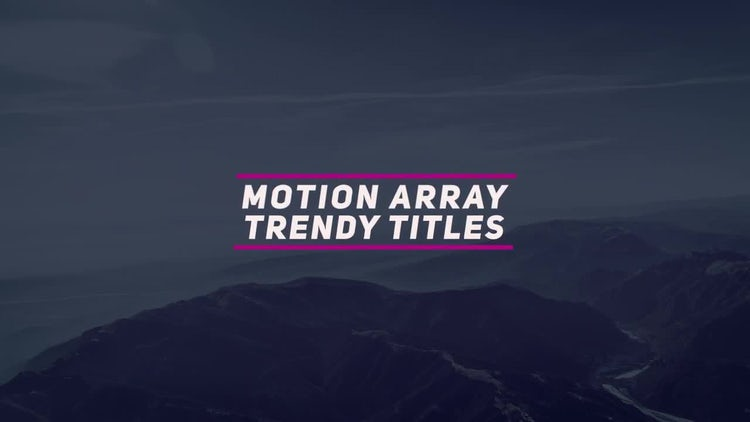 Modern Trendy Titles: After Effects Templates