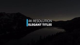 Elegant Titles: Motion Graphics Templates
