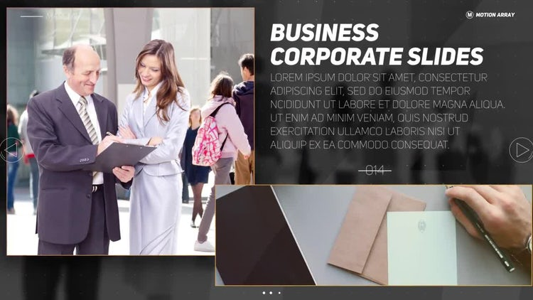 Business Corporate Slides: After Effects Templates
