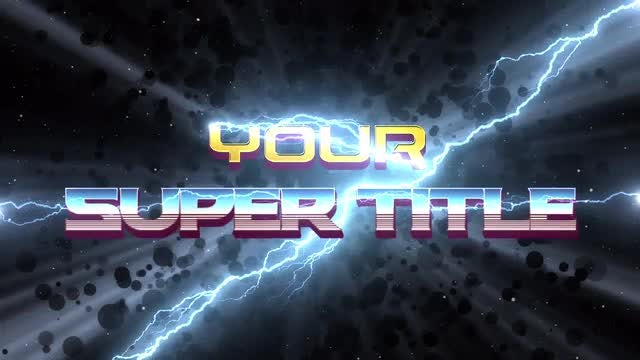 Superhero Movie Titles: After Effects Templates